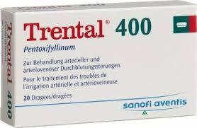 دارو پنتوگزی فیلین Pentoxifylline